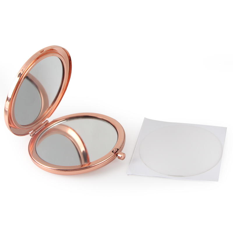 Hollow rose gold compact mirror (11)