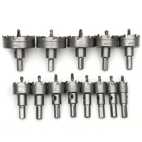 13pcs 16 53mm Core Drill Bit Holesaw Metal Cutter Cutting Used For Stainless Steel Iron Aluminum