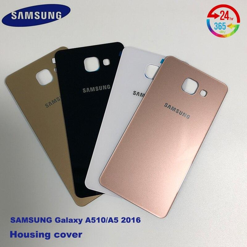 Couvercle de batterie Samsung A510 A5 2016 couvercle de vitre de la porte arrière avec remplacement du boîtier adhésif