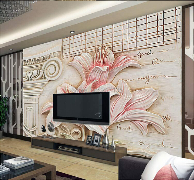 Free shipping custom 3D stereo mural relief decorative painting ...