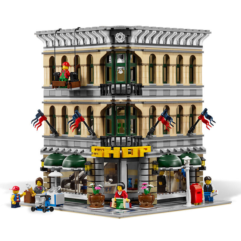 DHL 15005 2232 Pcs City Creator Grand Emporium Building Blocks Brick action education toys for Children gifts With Compatible
