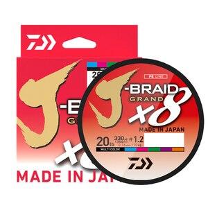 Image 2 - Il Best Prezzo 300M DAIWA J BRAID GRAN Intrecciato PE Linea Super Forte Giappone Monofilamento Intrecciato la Linea di Pesca Allingrosso