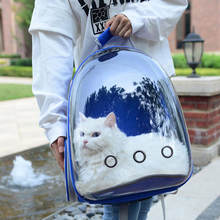 Protable Cat carrying Bag Puppy Chihuahua Kitten Capsule Breathable Bag Outdoor Travel Pet Backpack Transparent Cat Backpack-in Carriers & Strollers from Home & Garden on AliExpress