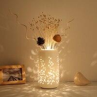 Китайский Керамика настольная лампа Спальня цветок Настольный светильник классической Кофе бар Настольный светильник Гостиная ресторан с