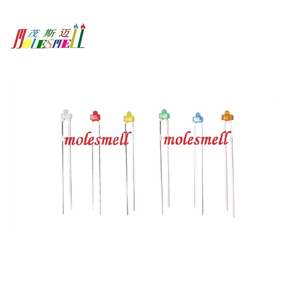 White Yellow Blue Green Warm White Diffused LEDs 1.8mm//3mm//5mm Red