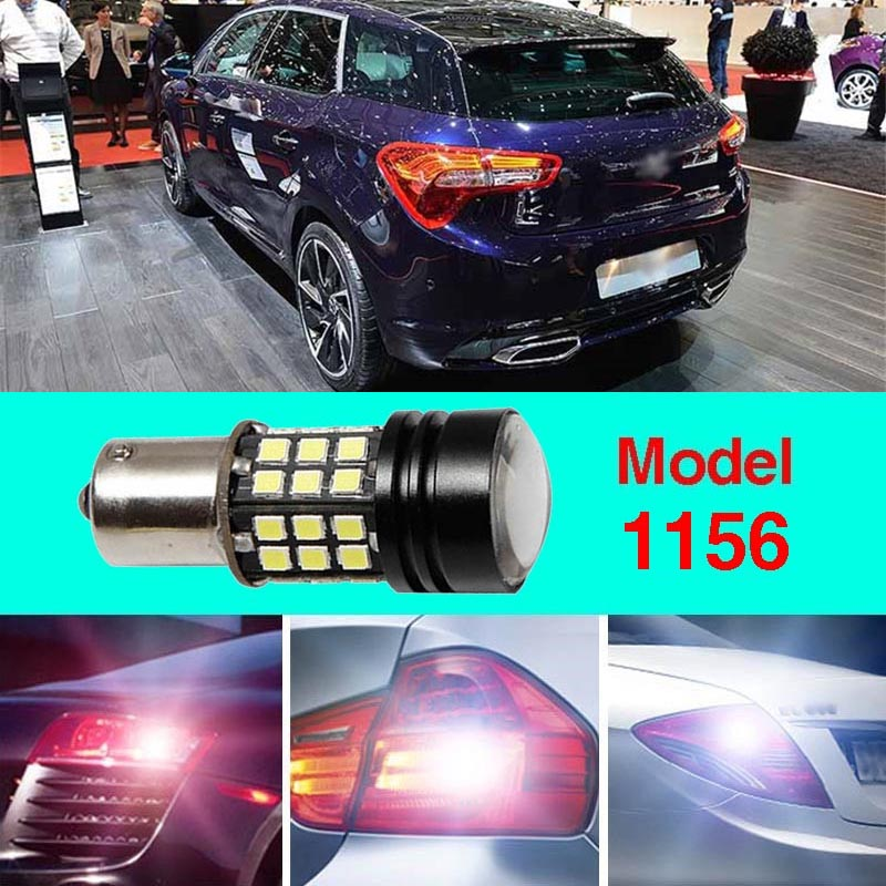 Error Free 1156 Socket 360 Degrees Projector Lens LED Backup Reverse Light R5 Chips Replacement Bulb For Citroen DS5