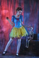 Snow White Princess Corpse Costume For Women Halloween Canival Dress Zombie Scarey Fancy Dress Ball Fantasia