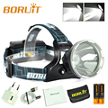BORUIT 10W XML L2 LED Headlamp Hunting Headlight Micro USB Rechargeable SOS frontal led with Power Display with 18650 battery