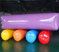 Outdoor fun game inflatable wheels roll for kids