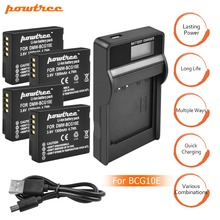4X DMW-BCG10 BCG10 BCG10E Battery 3.6V 1300mAh+Battery charger with LED for Panasonic Lumix DMC-ZS19 DMC-ZS20 DMC-ZS25 ZX1 L10