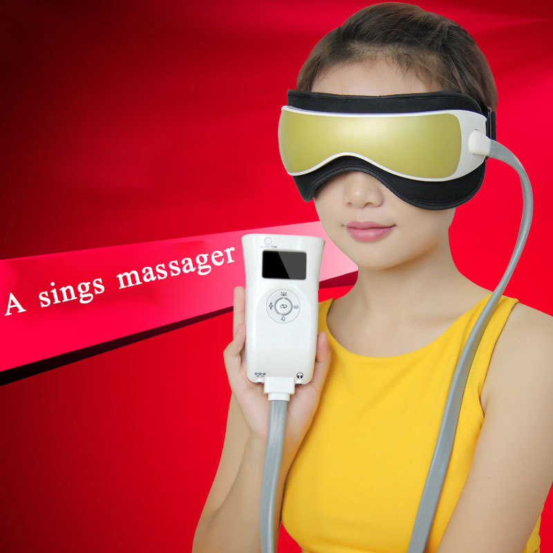 Air Pressure Eye Massager Glasses Music Wireless Eye Instrument Rubing Vibration Infrared Heater Eye Protection Device cat eye glasses tinize 2015 tr90 5832