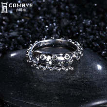 GOMAYA 925 Sterling Silver Rings Vintage Retro Fine Jewelry Accessories Aneis Gift for Women Wholesale Punk Anillo