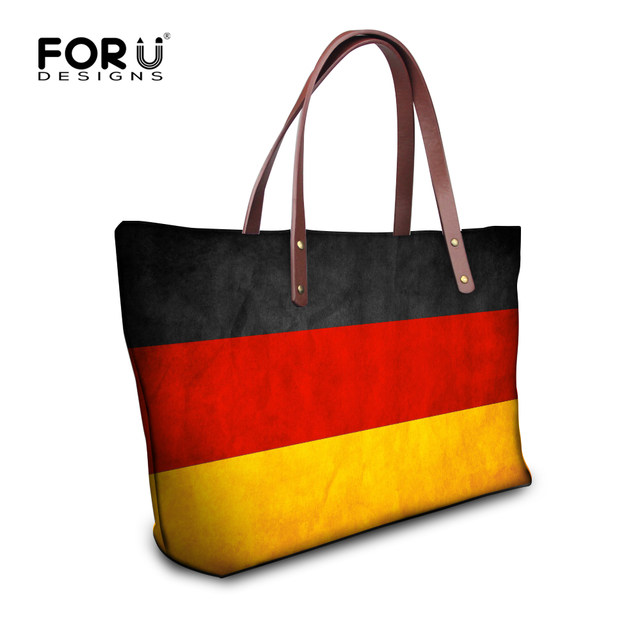 Forudesigns Fashion Uk Usa Canada Flags Print Women S Top Handle Bag Large Handbag Luxury Las Single Totes Bolsa Feminina
