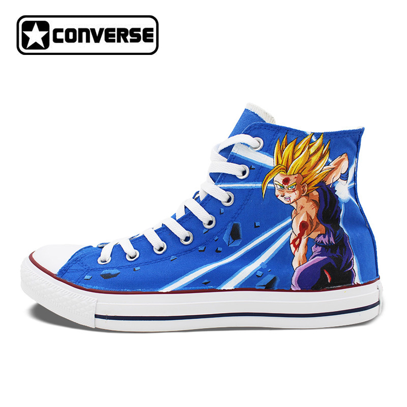 Dragon Ball Son Goku Anime Shoes Man Woman Converse Chuck Taylor Hand Painted Shoes Men Women Sneakers Cosplay Christmas Gifts цена