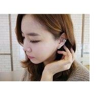 brinco ear cuff aretes clip on earrings for women simulated pearl fashion jewelry rhinestone oreille punk earcuffs
