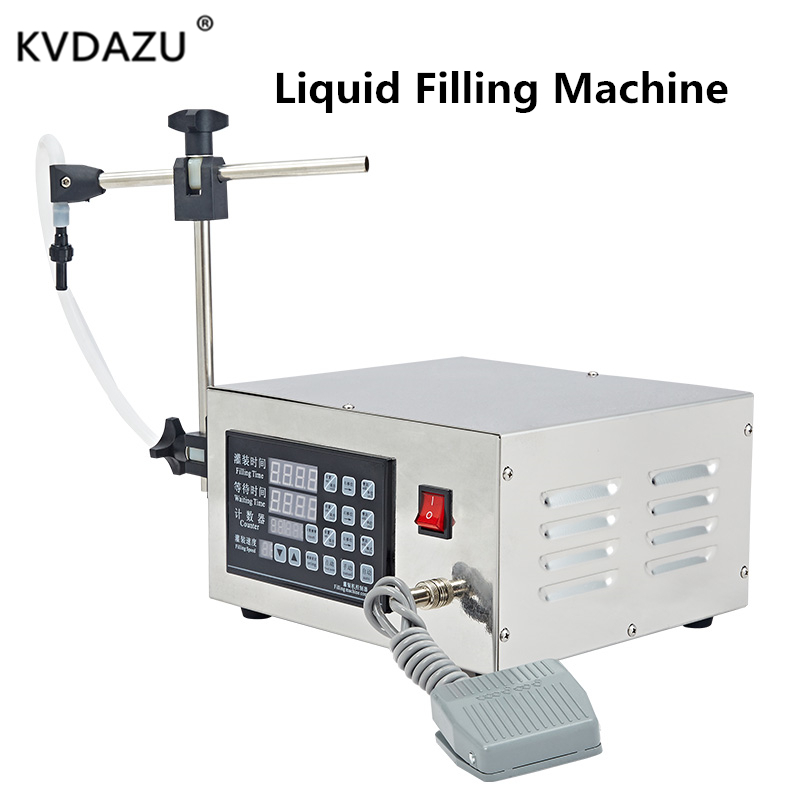 Digital Control Pump Liquid Filling Machine Mini Portable Electric Perfume Juice Liquor Water Drink Milk Bottle Automatic Filler