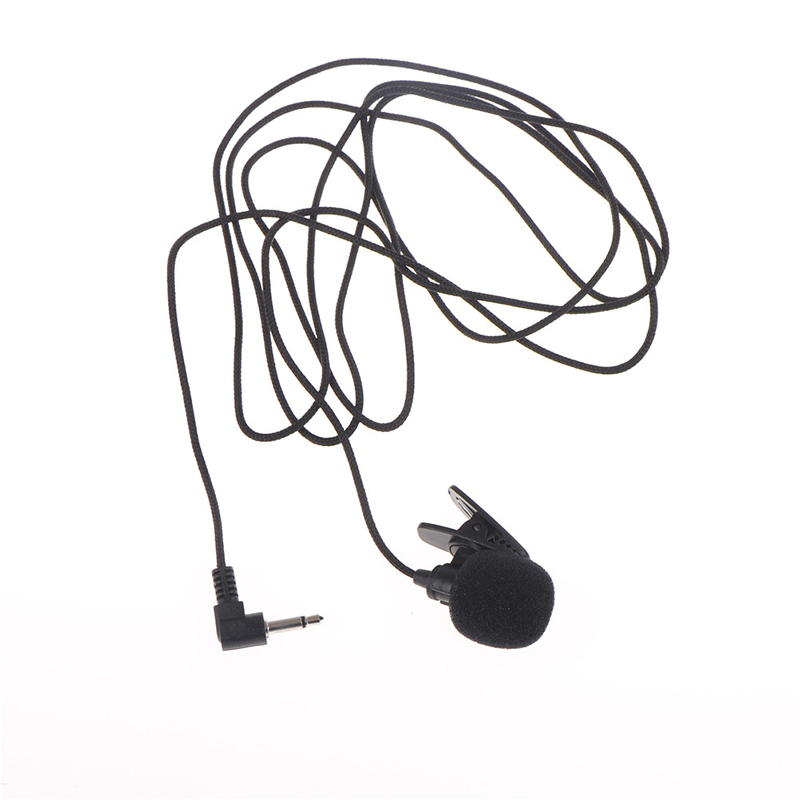 1pcs Mini 3 5mm Jack Microphone Lavalier Tie Clip Microphones