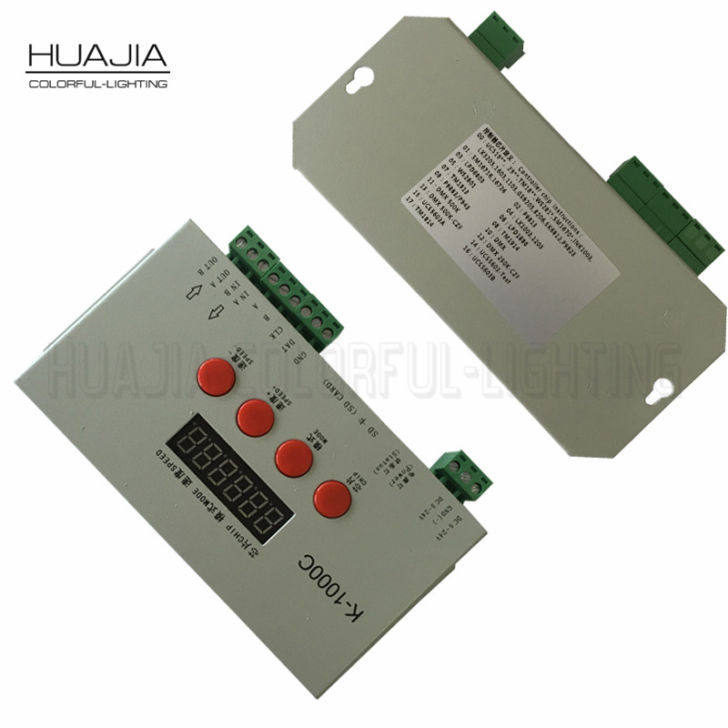 цена на Newest WS2811 Controller K1000C SD Card WS2801/SK6812/WS2812B LPD6803 Control 2048 Pixels T1000s Upgraded Led Strip Controller