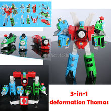 Super robot deformación Thomas Thomas tren figura de acción de 3-en-1 de Plástico Serie de Transformación establecidos para Los Niños juguetes educativos