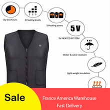 Men Women Outdoor USB Infrared Heating Vest Jacket Winter Fl