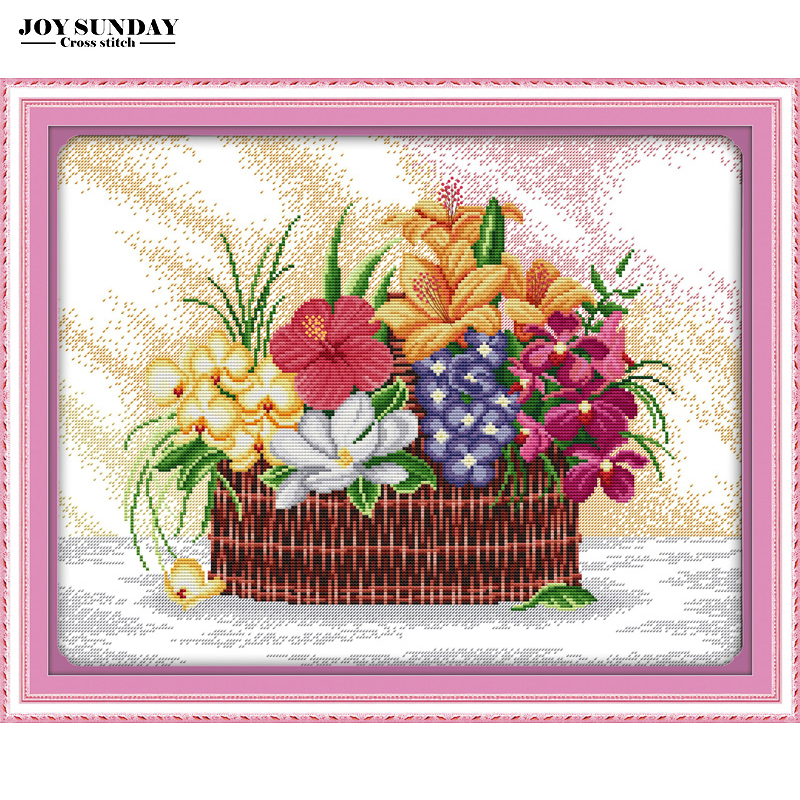 Blossoms scent the air cross stitch kit 14ct 11ct counted printed stitch cross embroidery needlework diy dmc new year home decor in Package from Home Garden