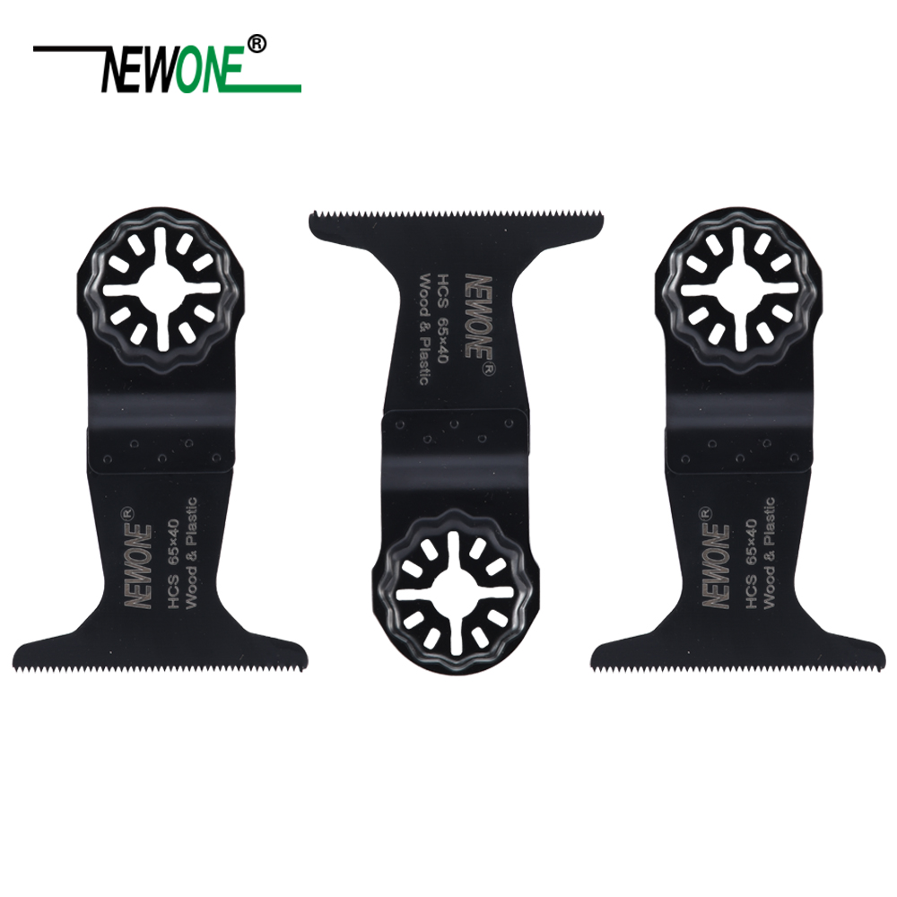 NEWONE Starlock 65*40MM HCS Saw Blades Fit Electric Power Oscillating Tools For Cut Wood Plastic Metal Remove Carpet Nails