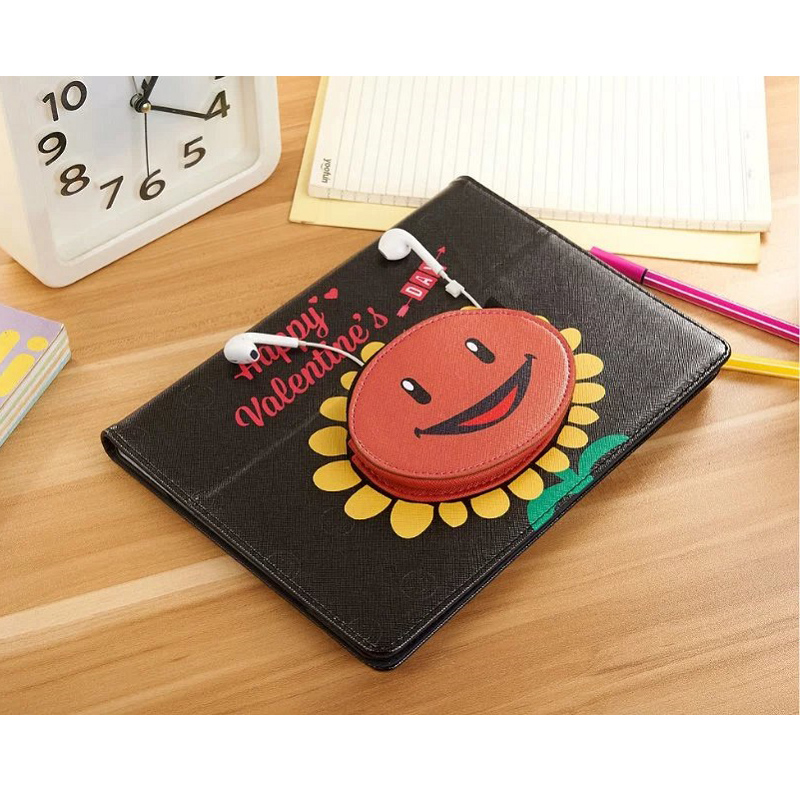 for iPad 9.7 2017 Case 5th Generation Smart PU Leather Sleeve for iPad 9.7 inch 2018 Model Headset Storage PC Cover Auto Sleep