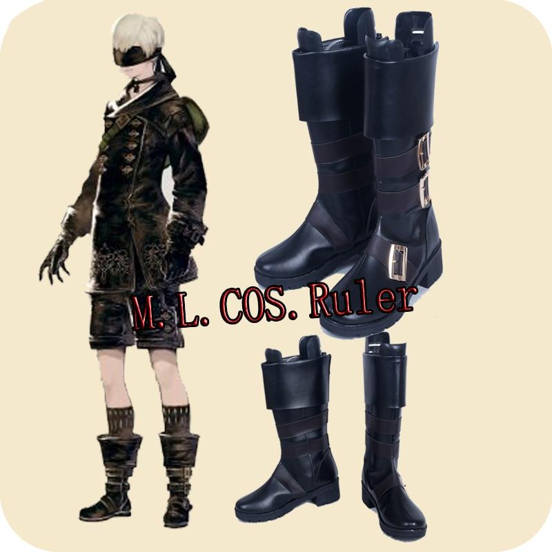NieR Automata YoRHa 9s Cosplay Boots Shoes Custom Made