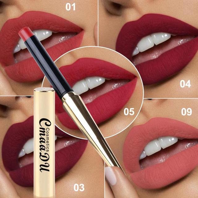 CmaaDu 12 Colors Bullet Waterproof Matte Lipstick New Explosion Lip Gloss  Tint Pencil Sexy Plum Makeup Beauty Tools 4