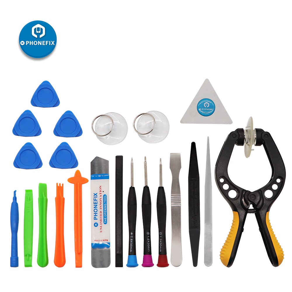 PHONEFIX 22 In 1 Cell Phone Repair Tool Kit Suction Cup Pry Opening Screwdriver Disassembly Tool Set For Mobile Repair Opener