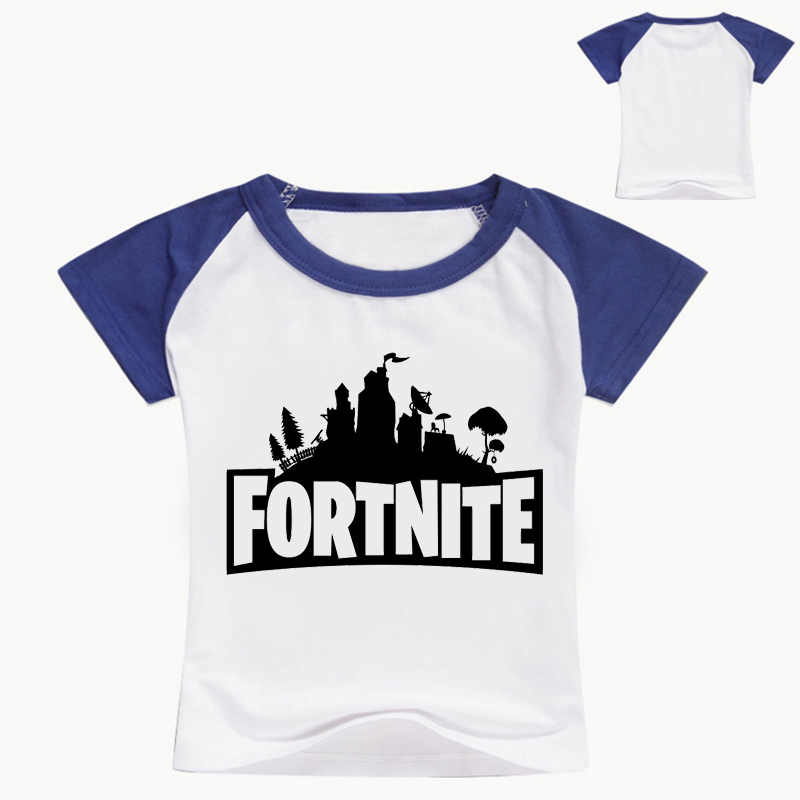 Summer Cotton T Shirts Fortnite Legend Gaming Pattern Tops Baby Girls Boys Casual T-shirt Kids Clothes 3-16Y T061