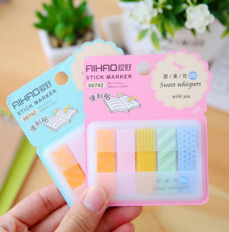 Sweet Whispers With You Self-Adhesive Memo Pad Sticky Notes Bookmark School Office Supply