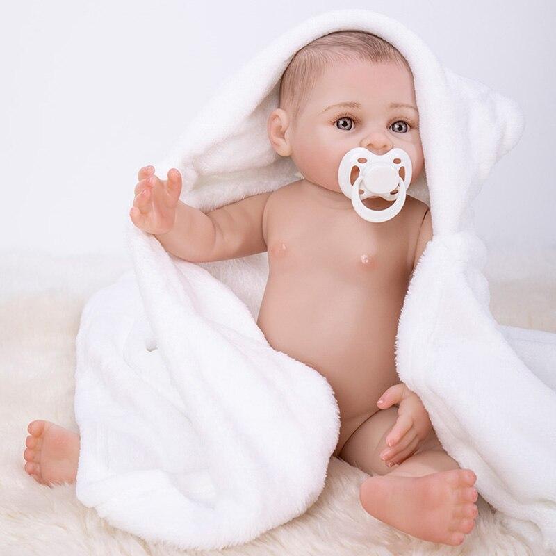 Bath Reborn, muñecos de bebé de cuerpo entero de silicona de vinilo para bebés recién nacidos, muñecas Boneca, juguetes Brinquedos para niños, regalos de cumpleaños - 5