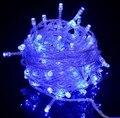 À prova d' água 220 V 10 m 100 leds Led Azul Fada Luz Cordas Natal Xmas Decoração Iluminação Para Festa de Casamento Férias