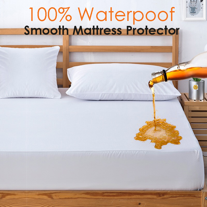 Ruso impermeable superior lisa hipoalergénico colchón Protector contra los ácaros del polvo y las bacterias colchón sábana