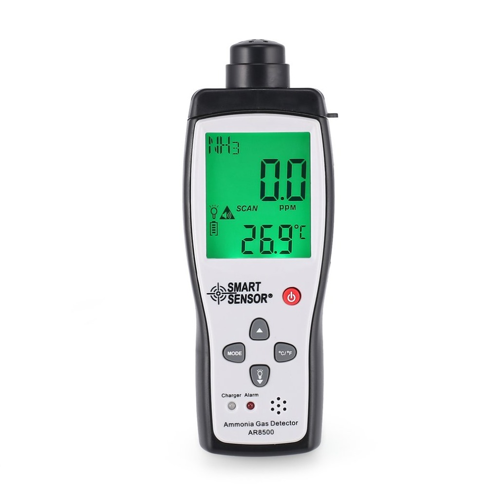 Smart Sensor AR8500 Air Quality Monitor Gas Meter Ammonia TEMP Detector Analyzer Handheld Tester Temperature Thermometer Concentration Meters     - title=