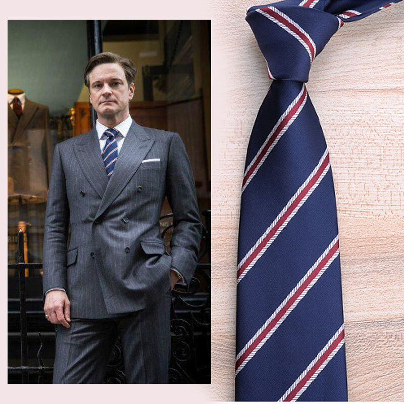 Секрет Услуги Гарри HART Косплэй шеи галстук Бизнес синий галстук свадебный галстук для Для мужчин ...