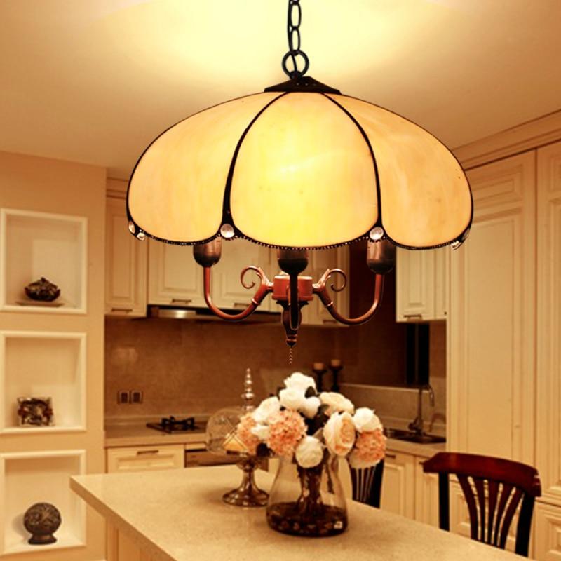 Jane retro restaurant chandelier bedroom porch corridor balcony lamp glass lamp single head light personality YA72616