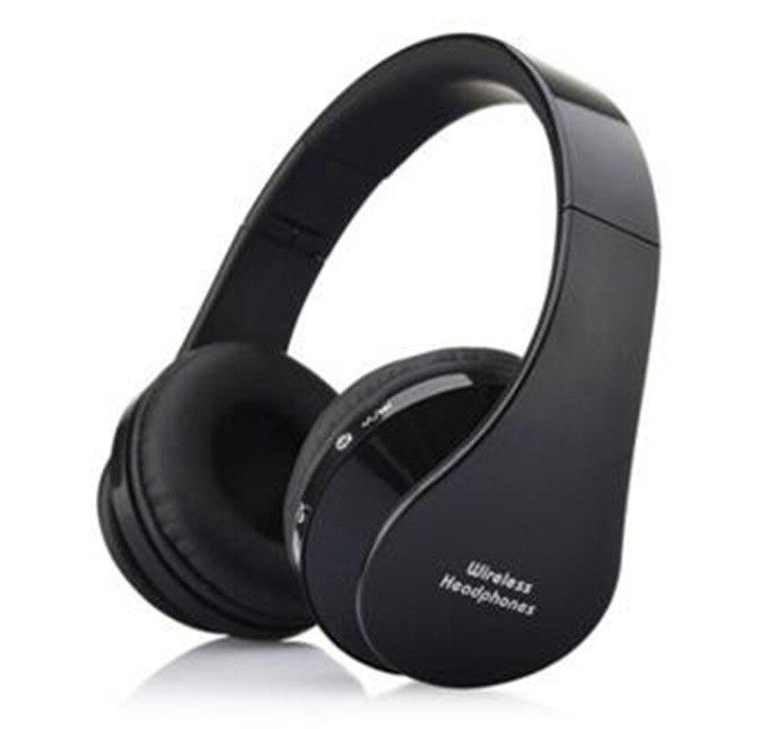 MidCreat 8252, беспроводная Bluetooth гарнитура, складные наушники, Bluetooth наушники, шумоподавление с микрофоном для спортивной музыки - Цвет: Черный