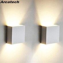 Светодиодный настенный светильник для помещений и наружный водонепроницаемый IP65 Настенный светильник для крыльца сада 6 Вт/12 Вт AC 85-265 в для ванной коридора NR-126