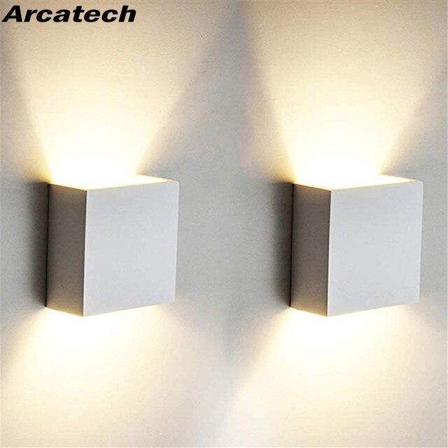קוביית COB LED תאורה פנימית מנורת קיר מודרני בית תאורת קישוט מנורות קיר אלומיניום מנורת 6 W 85-265 V עבור אמבטיה מסדרון NR-126