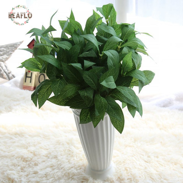 1Bunch Cloth 7 Heads Bay Leaves Artificial Plant Arrangement Wedding Home Decorative