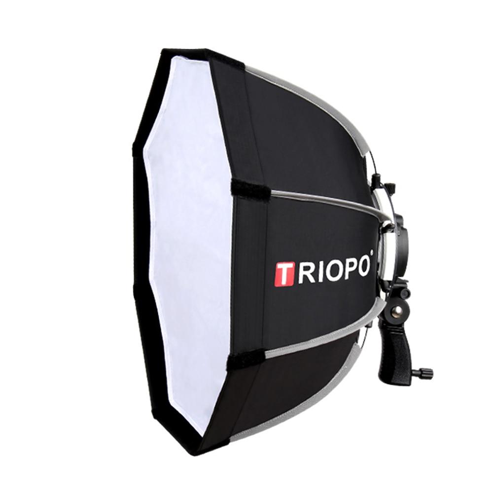 Triopo 55 cm Octogone Parapluie Photographie Softbox Pour Godox V860II TT600 TT685 YN560 III IV JY-680A Flash Speedlite Soft Box