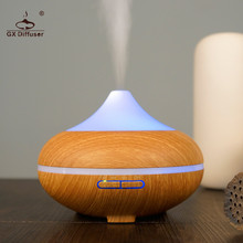 ФОТО GX Diffuser 7color LED 500ML Diffuser Ultrasonic Humidifier Essential Oil Aroma Diffuser Aromatherapy Diffuser  Office  Yoga
