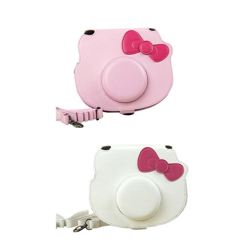 Cartoon Camera Bag Leather Case For Fujifilm Fuji Instax Mini Hello Kitty