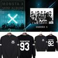 KPOP Korean Fashion MONSTA X I.M JOOHEON MINHYUK SHOWNU Album Cotton Hoodies Clothing K-pop Pullovers Sweatshirts PT072