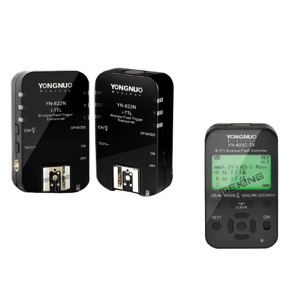 3pcs Yongnuo Wireless TTL Flash Trigger YN622 yn-622 YN-622C-TX Radio 1/8000s for Canon 5D 7D 60D 50D 40D 450D 600D 650D 1000D цена и фото