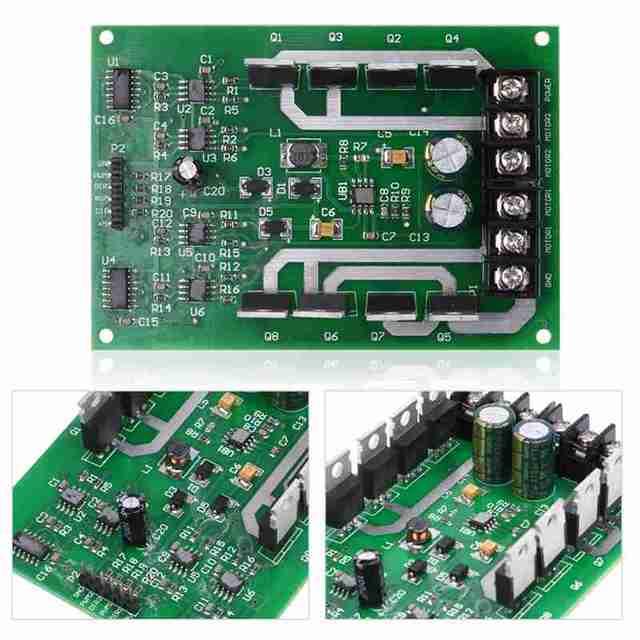 1PCS Dual Motor Driver Module board H-bridge DC MOSFET IRF3205 3-36V 10A Peak 30A New