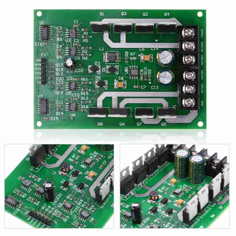 New 1PCS Dual Motor Driver Module board H-bridge DC MOSFET IRF3205 3-36V 10A Peak 30A dual mc33886 motor driver board dc 5v 2a for smart car raspberry pi a b 2b 3b