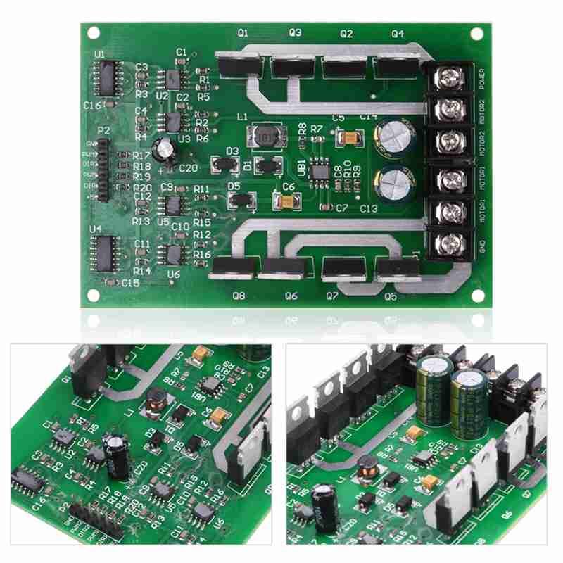 Nouveau 1 PCS Double Motor Driver conseil Module H-pont DC MOSFET IRF3205 3-36 V 10A Crête 30A